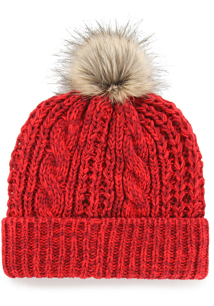 '47 Detroit Red Wings Red Meeko Cuff Womens Knit Hat - Image 2
