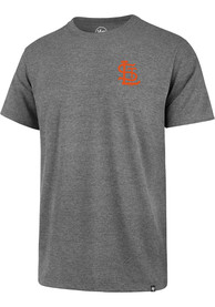 St Louis Browns 47 Backer Club T Shirt - Grey