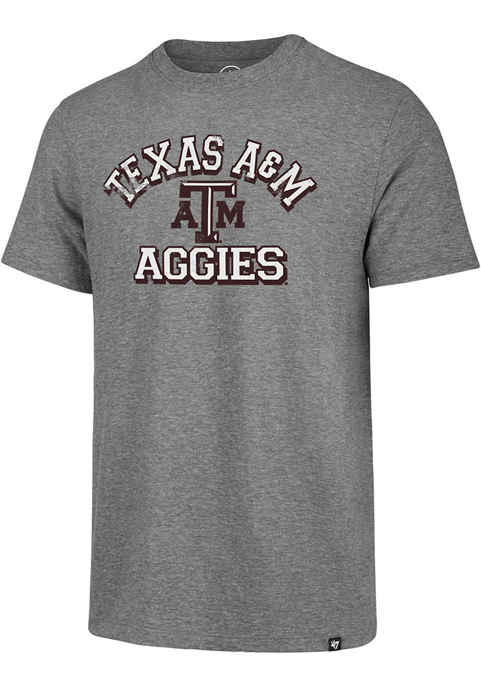 Texas A&M Aggies Grey Number One Match Short Sleeve Fashion T Shirt - Image 1