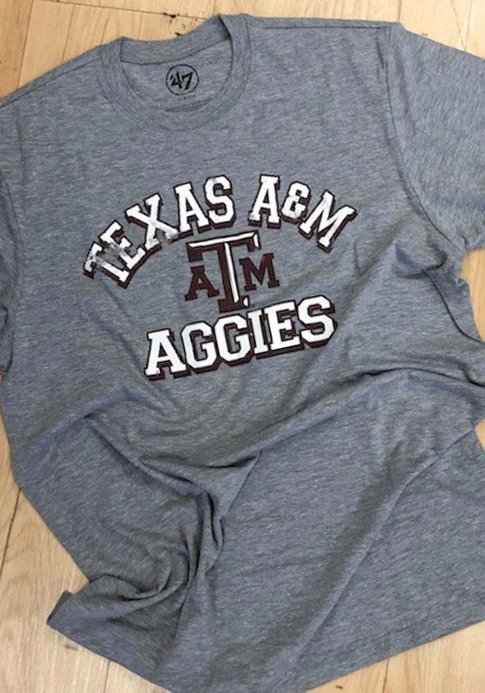 Texas A&M Aggies Grey Number One Match Short Sleeve Fashion T Shirt - Image 3