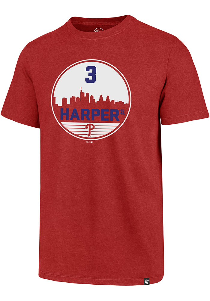 Bryce Harper Philadelphia Phillies Red Club Short Sleeve Player T Shirt - Image 1