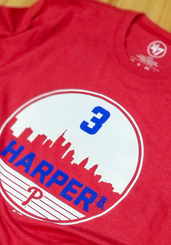 Bryce Harper Philadelphia Phillies Red Club Short Sleeve Player T Shirt - Image 3