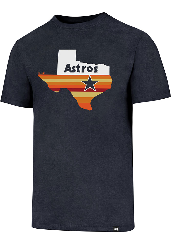 '47 Houston Astros Navy Blue Regional Club Short Sleeve T Shirt - Image 1