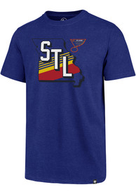 St Louis Blues 47 Retro Striped State T Shirt - Blue