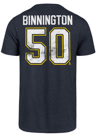 Jordan Binnington St Louis Blues 47 Most Valuable Player T-Shirt - Navy Blue