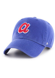 Atlanta Braves 47 Clean Up Adjustable Hat - Blue