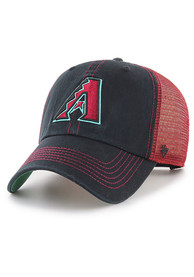 47 Arizona Diamondbacks Trawler Clean Up Adjustable Hat - Black