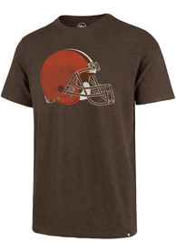 Cleveland Browns 47 Primary Fashion T Shirt - Brown