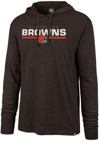 47 Cleveland Browns Brown End Line Hoodie