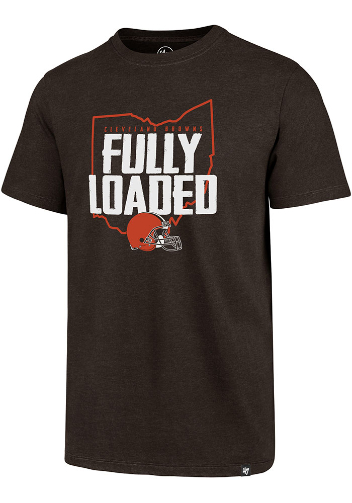 '47 Cleveland Browns Brown Fully Loaded Short Sleeve T Shirt - Image 1