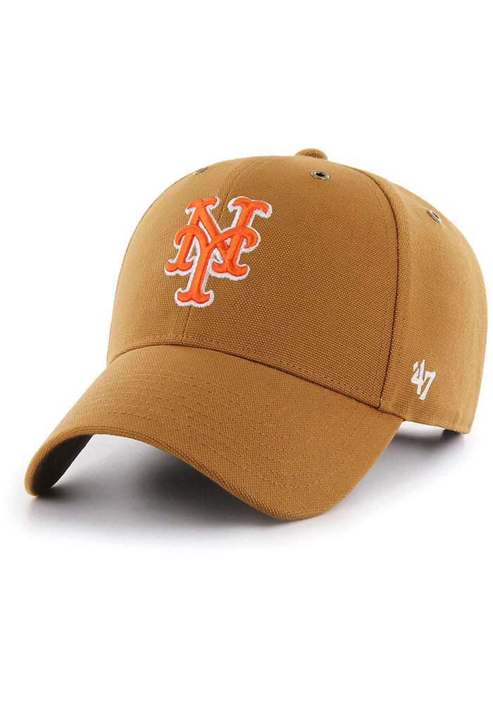 '47 New York Mets Carhartt MVP Adjustable Hat - Brown - Image 1