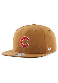 Chicago Cubs 47 Carhartt Captain Snapback - Brown
