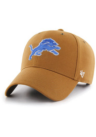 Detroit Lions 47 Carhartt MVP Adjustable Hat - Brown