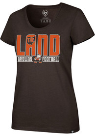 Cleveland Browns Womens 47 Regional The Land T-Shirt - Brown