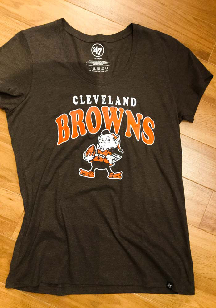 47 Cleveland Browns Womens Brown Go Ahead Short Sleeve T-Shirt - Image 3