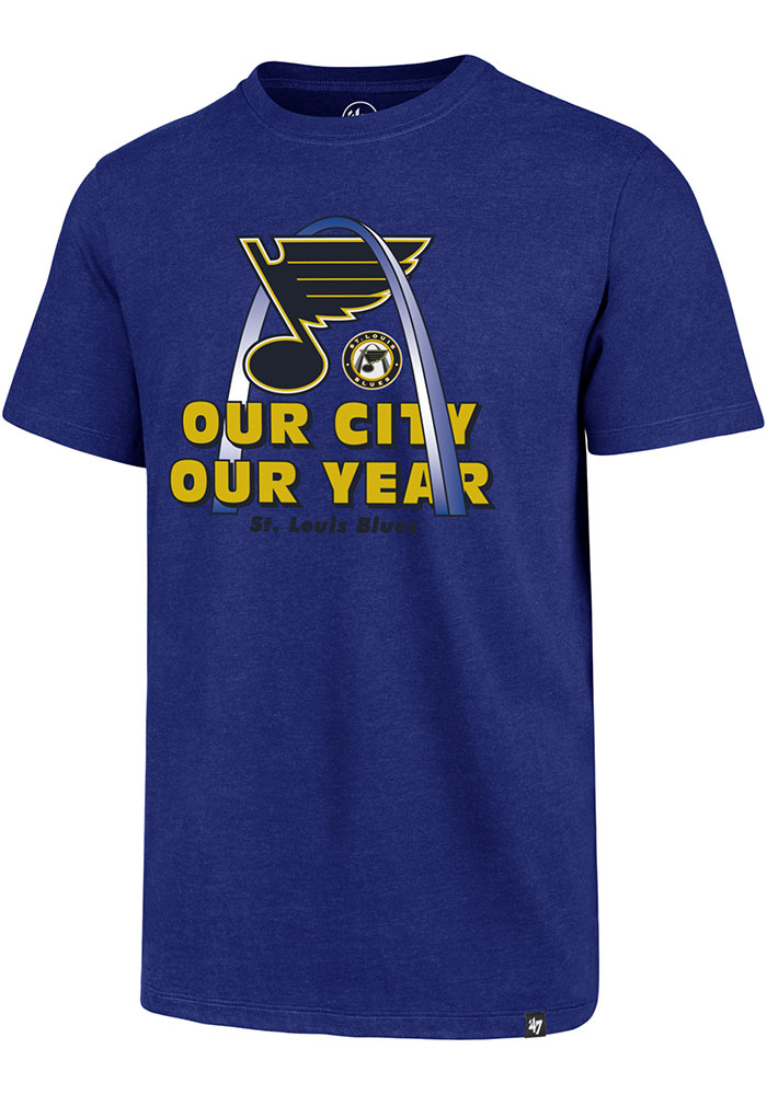 St Louis Blues 47 Our City Our Year Arch T Shirt - Blue