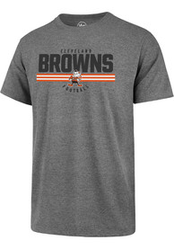 Cleveland Browns 47 Team Stamp T Shirt - Grey