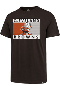Cleveland Browns 47 Team Logo Block T Shirt - Brown