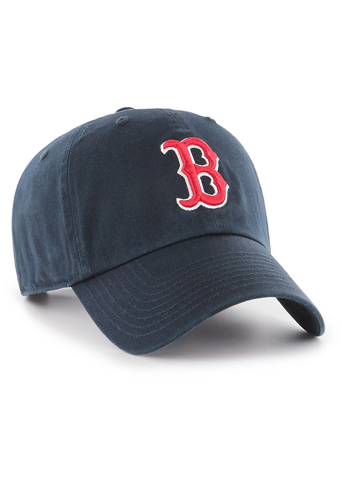 47 Boston Red Sox Clean Up Adjustable Hat - Navy Blue - Image 3