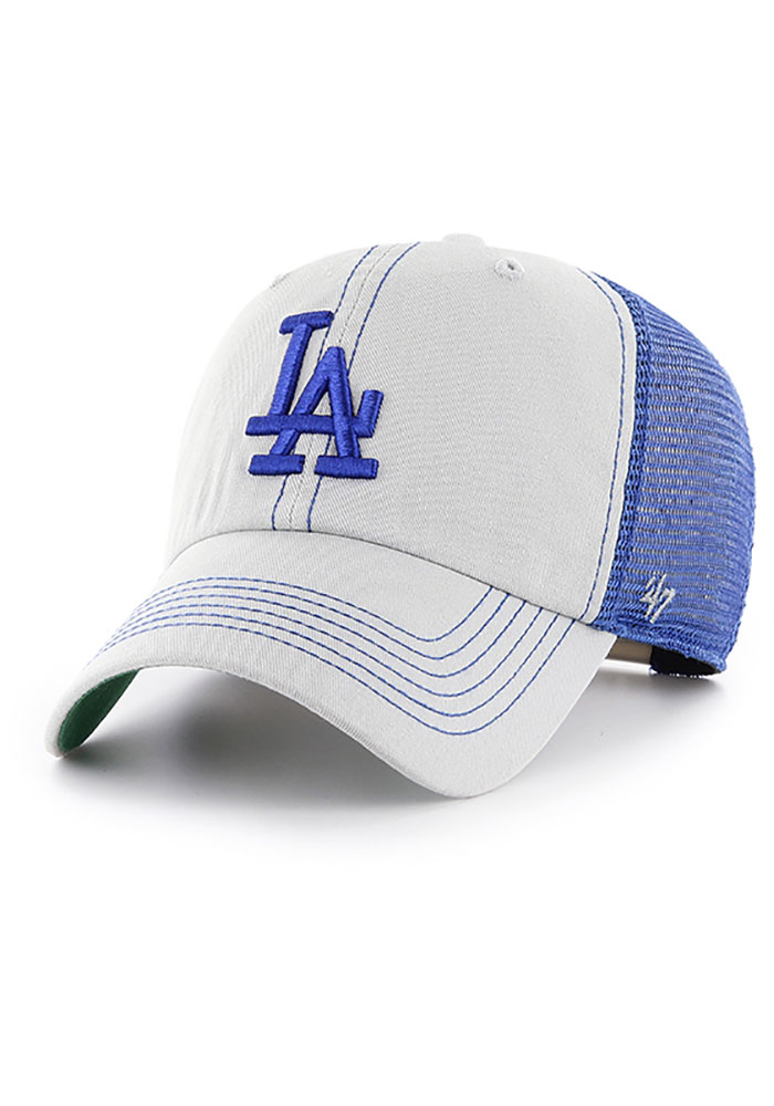47 Los Angeles Dodgers Trawler Clean Up Adjustable Hat - Grey