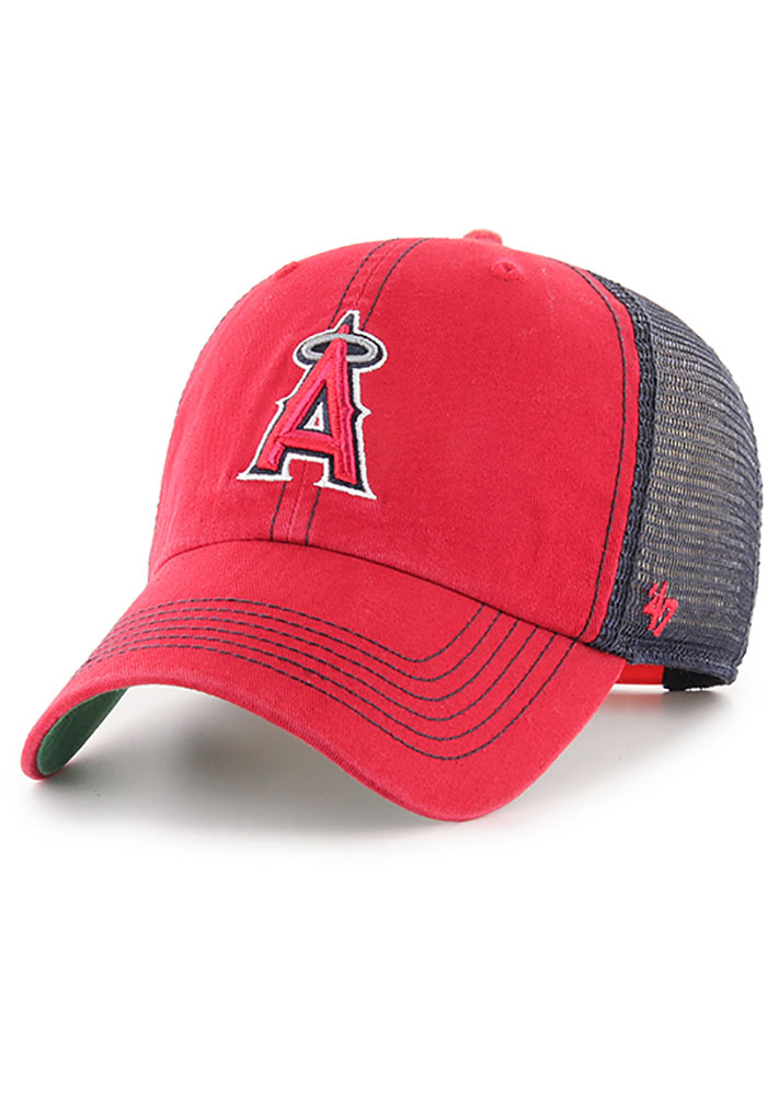 '47 Los Angeles Angels Trawler Clean Up Adjustable Hat - Red - Image 1