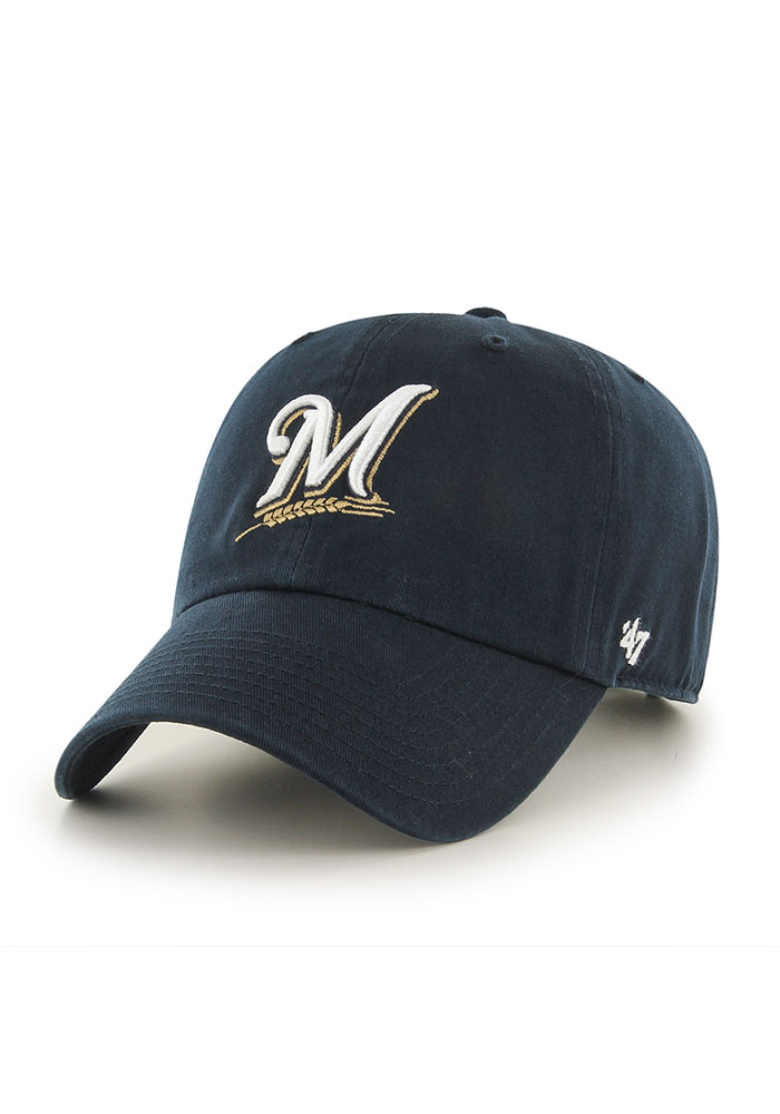 47 Milwaukee Brewers Clean Up Adjustable Hat - Navy Blue