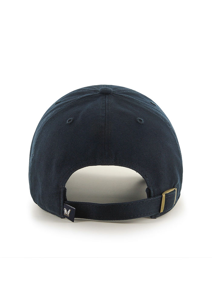 '47 Milwaukee Brewers Clean Up Adjustable Hat - Navy Blue - Image 2