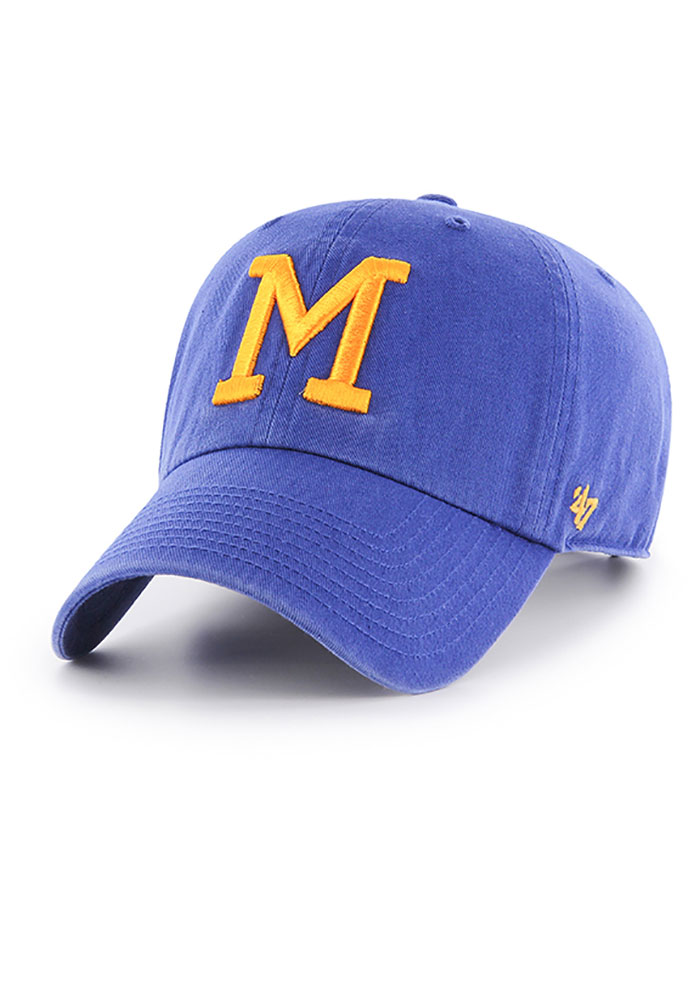'47 Milwaukee Brewers Clean Up Adjustable Hat - Blue - Image 1