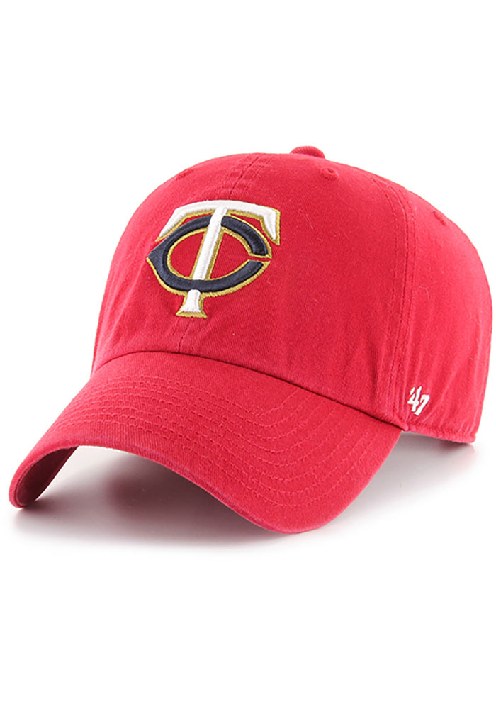 '47 Minnesota Twins Clean Up Adjustable Hat - Red - Image 1