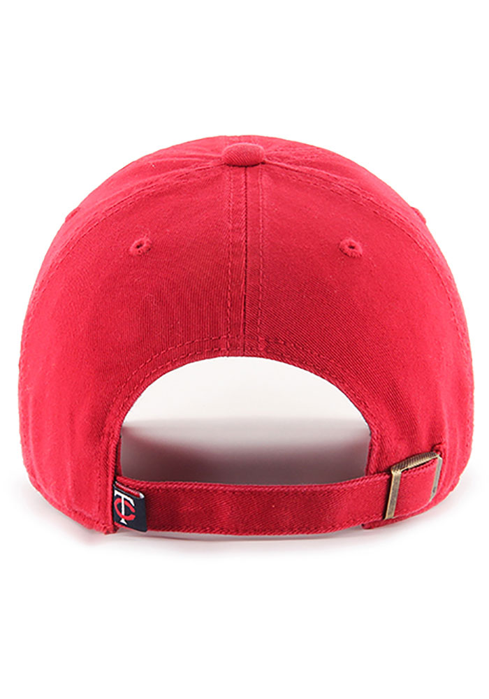 '47 Minnesota Twins Clean Up Adjustable Hat - Red - Image 2