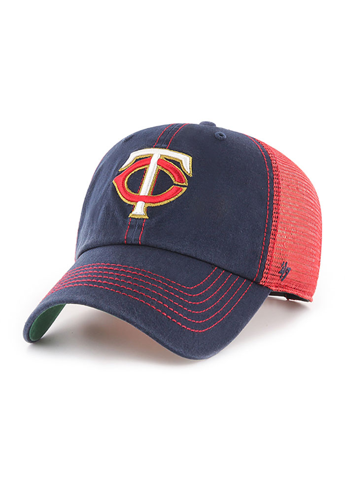 47 Minnesota Twins Trawler Clean Up Adjustable Hat - Navy Blue