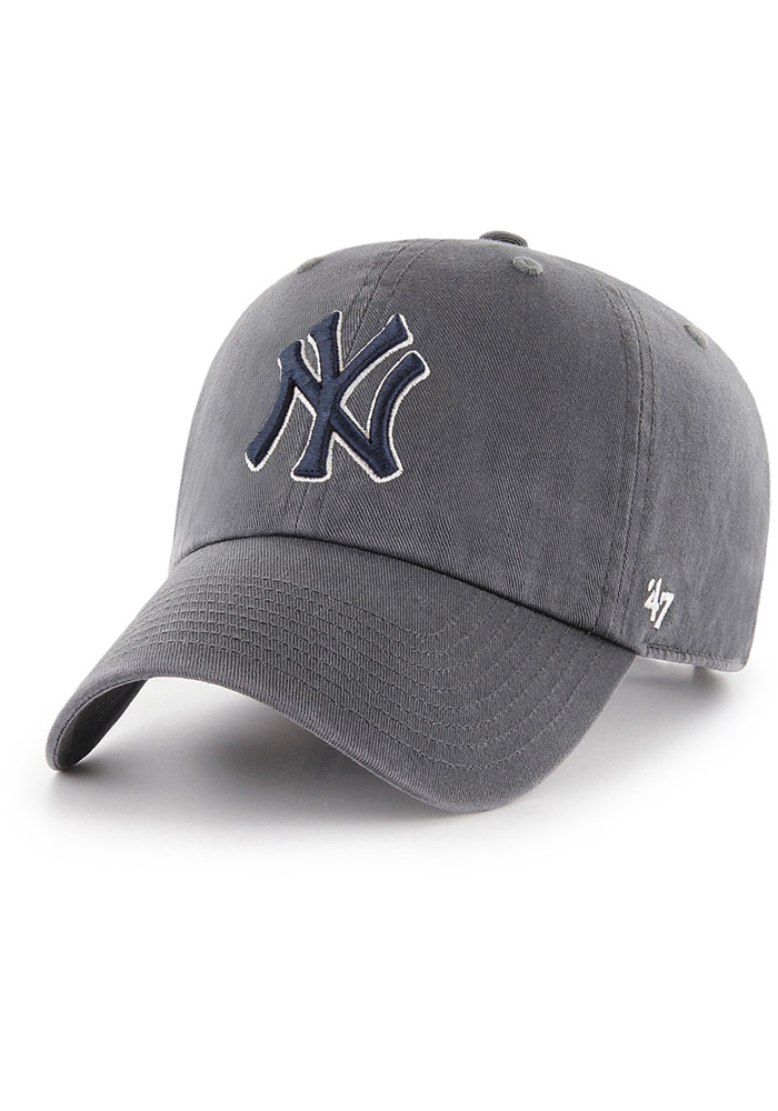 47 New York Yankees Clean Up Adjustable Hat - Charcoal