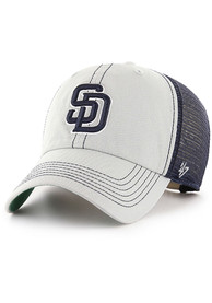47 San Diego Padres Trawler Clean Up Adjustable Hat - Grey