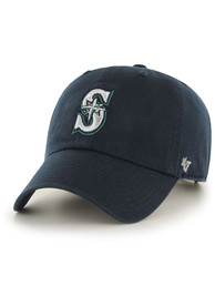 47 Seattle Mariners Clean Up Adjustable Hat - Navy Blue