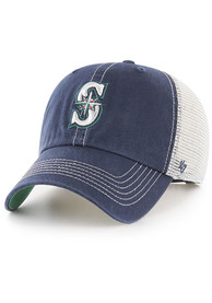 47 Seattle Mariners Trawler Clean Up Adjustable Hat - Navy Blue