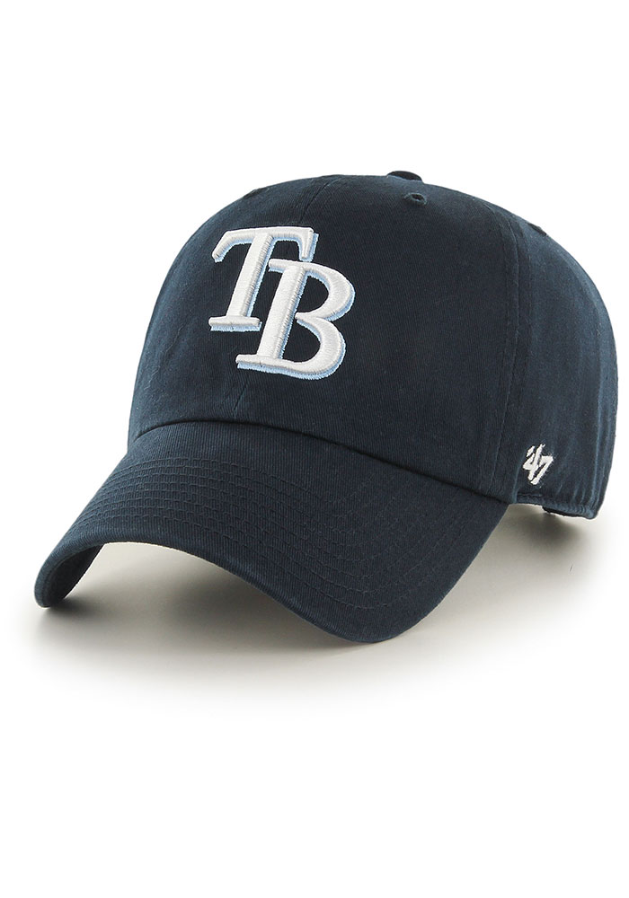 '47 Tampa Bay Rays Clean Up Adjustable Hat - Navy Blue - Image 1