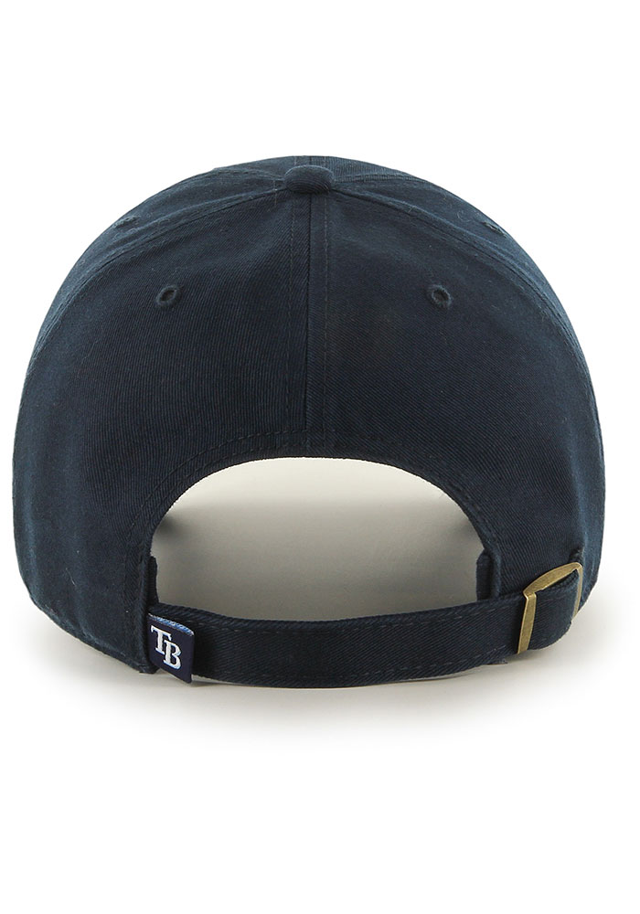 '47 Tampa Bay Rays Clean Up Adjustable Hat - Navy Blue - Image 2