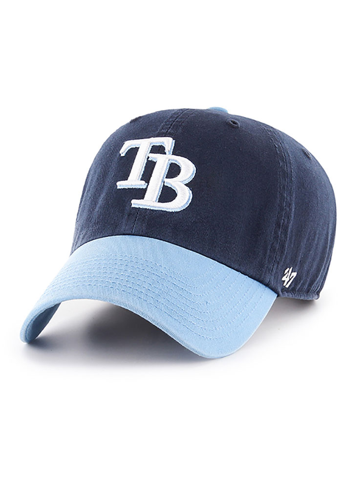'47 Tampa Bay Rays Two Tone Clean Up Adjustable Hat - Navy Blue - Image 1