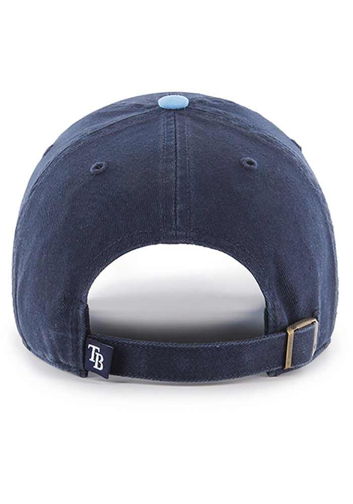 '47 Tampa Bay Rays Two Tone Clean Up Adjustable Hat - Navy Blue - Image 2