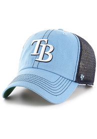 47 Tampa Bay Rays Trawler Clean Up Adjustable Hat - Light Blue