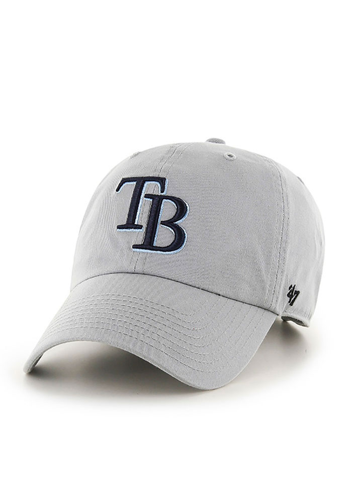 '47 Tampa Bay Rays Clean Up Adjustable Hat - Grey - Image 1