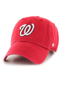 47 Washington Nationals Clean Up Adjustable Hat - Red