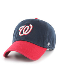 '47 Washington Nationals Two Tone Clean Up Adjustable Hat - Navy Blue