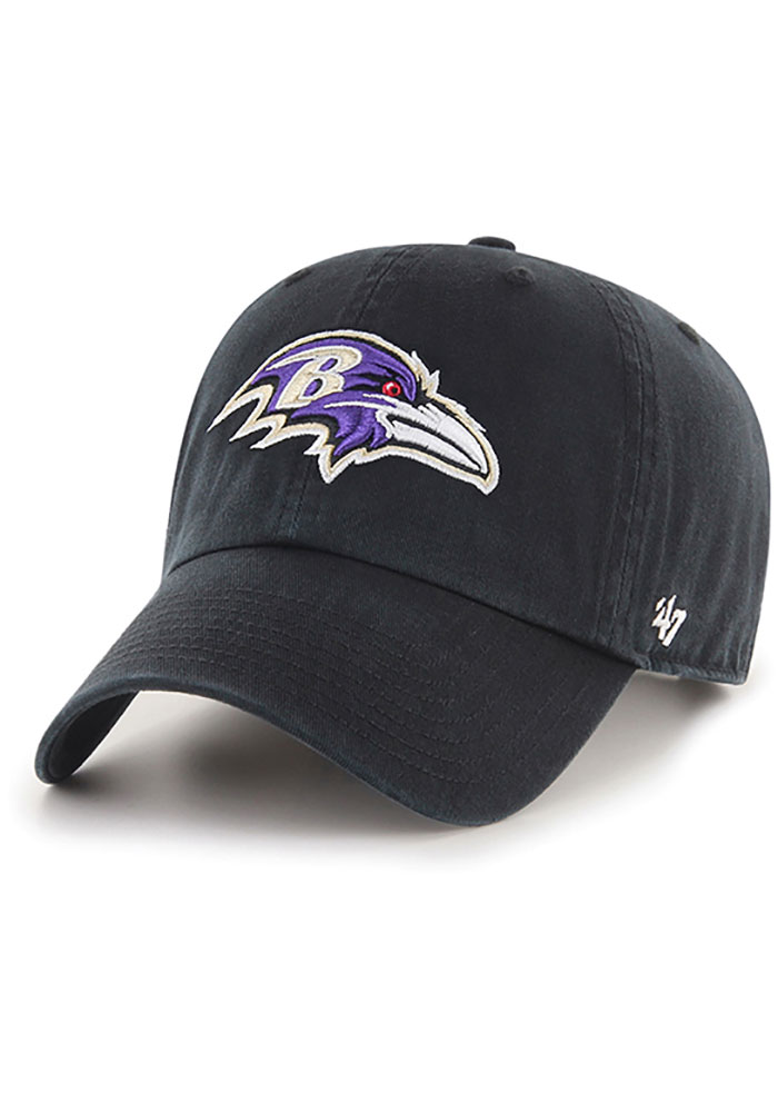 47 Baltimore Ravens Clean Up Adjustable Hat - Black