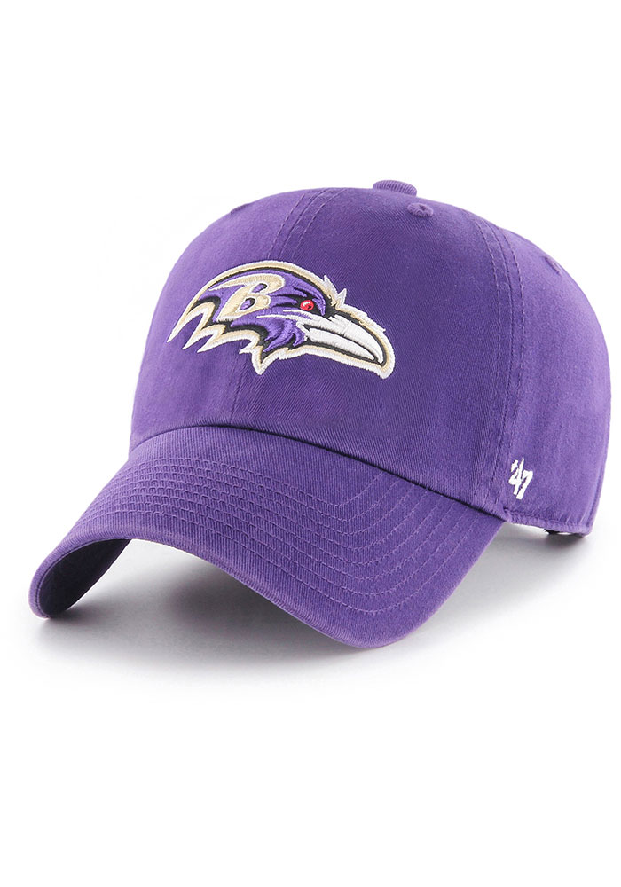 Baltimore Ravens 47 Clean Up Adjustable Hat - Purple