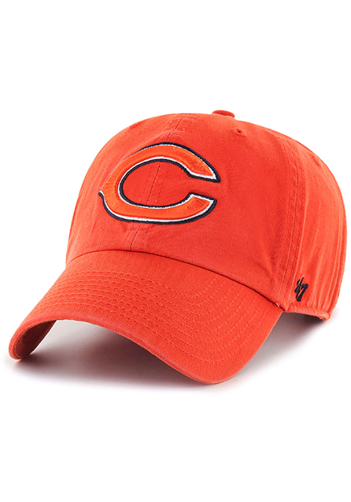 47 Chicago Bears Clean Up Adjustable Hat - Orange