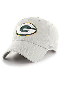 Green Bay Packers 47 Clean Up Adjustable Hat - Grey