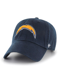47 Los Angeles Chargers Clean Up Adjustable Hat - Navy Blue