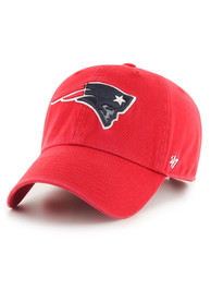 47 New England Patriots Clean Up Adjustable Hat - Red