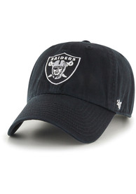 new style 37ba5 fd939 '47 Oakland Raiders Clean Up Adjustable Hat - Black
